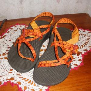 Chaco Z/Cloud X2 Orange Nylon Hiking Shoes